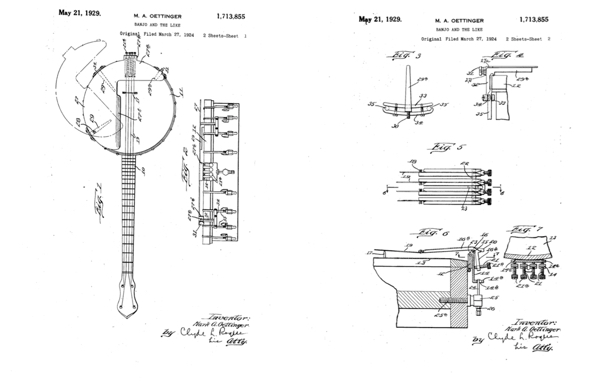 Diagrams from the original Oettinger US Patent application